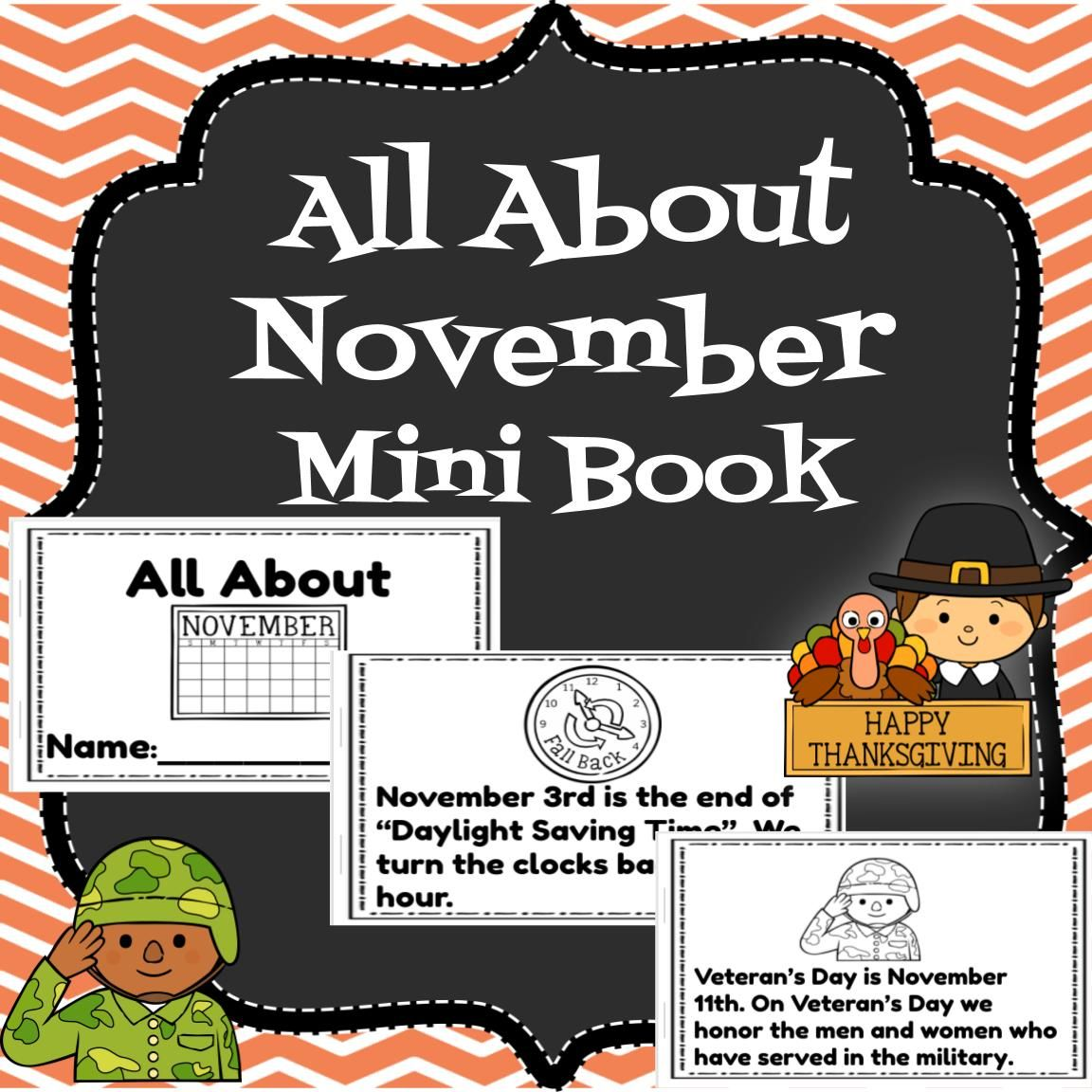 All About November Mini Book In