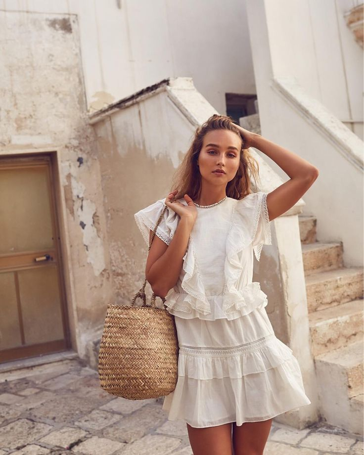 white frilly dress | Fashion, Cute summer dresses, Style