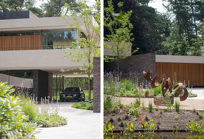 Organische vormen en strakke lijnen op buytengewoon villa