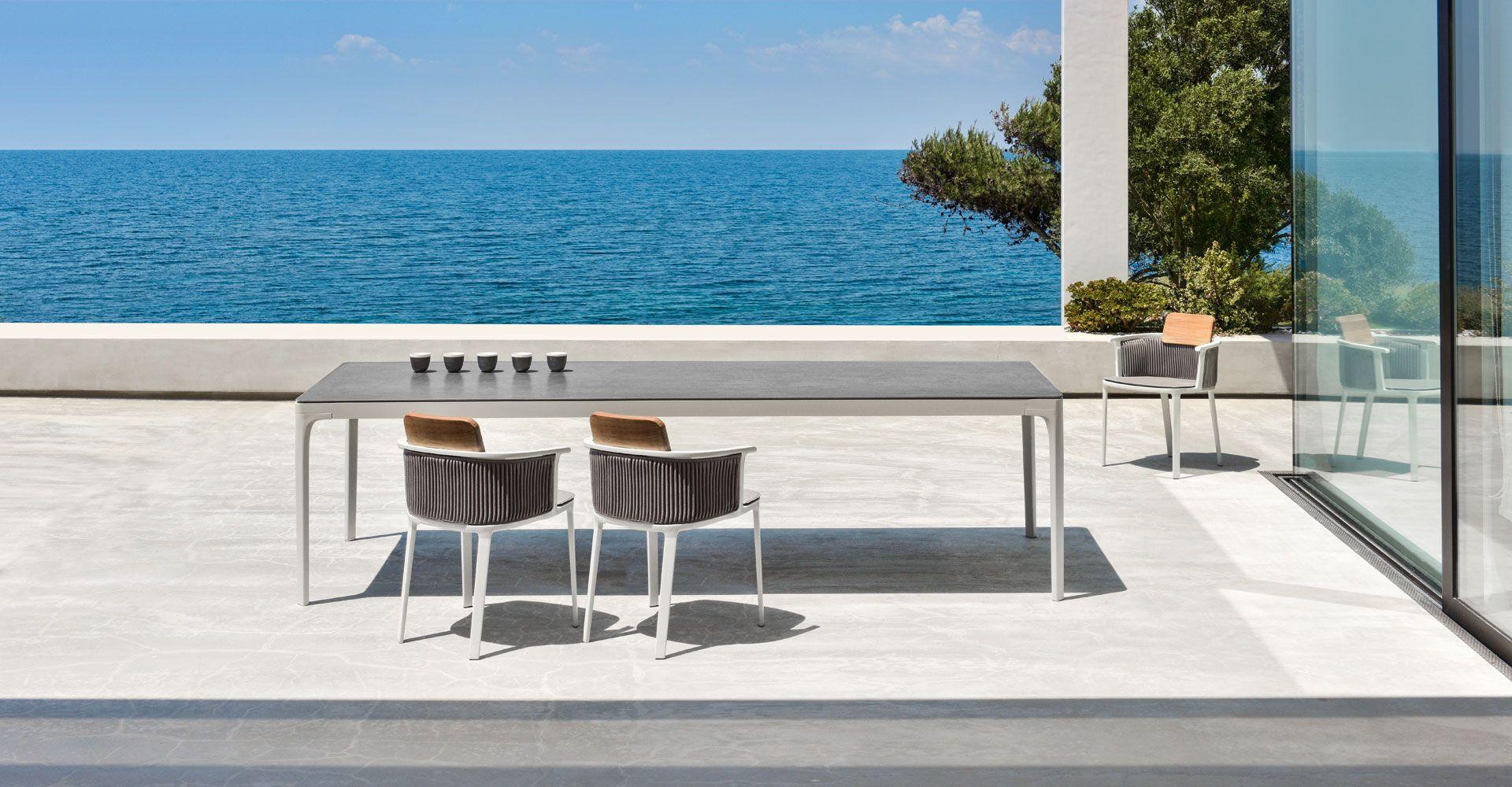 Table de jardin haut de gamme. Sun mobilier Bordeaux lac | SUN ...