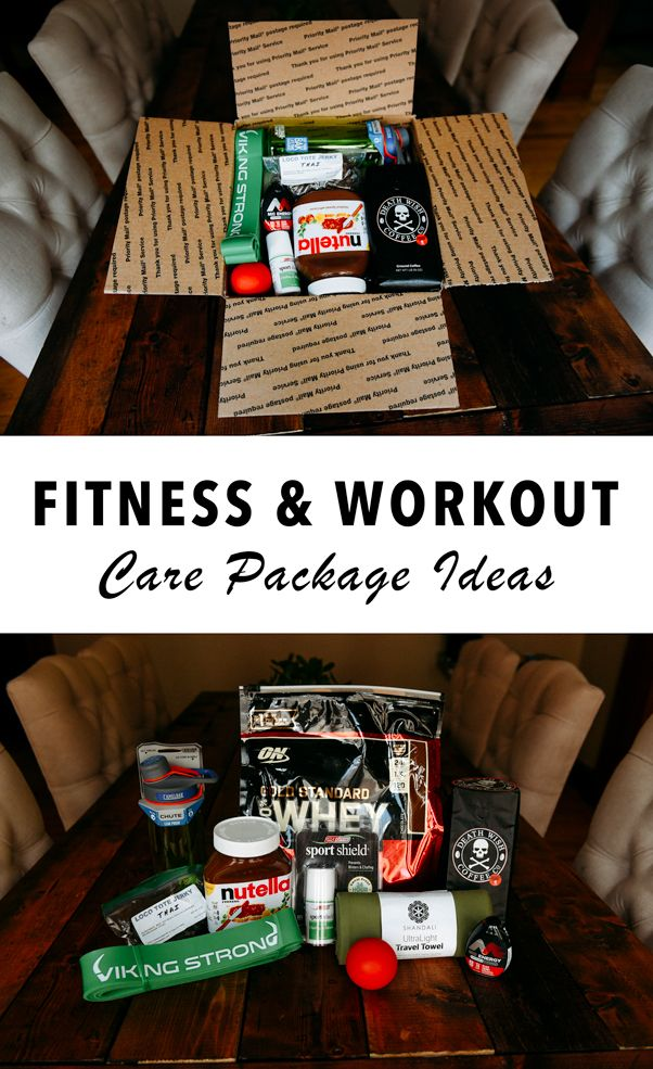 Healthy care package ideas for fitness & workout fanatics ...