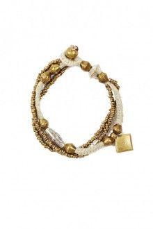 $48 Corsa: Macrame Charm Bracelet by Raven + Lily