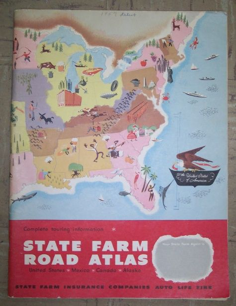State Farm Road Atlas Rand Mcnally Co Published Bloomington