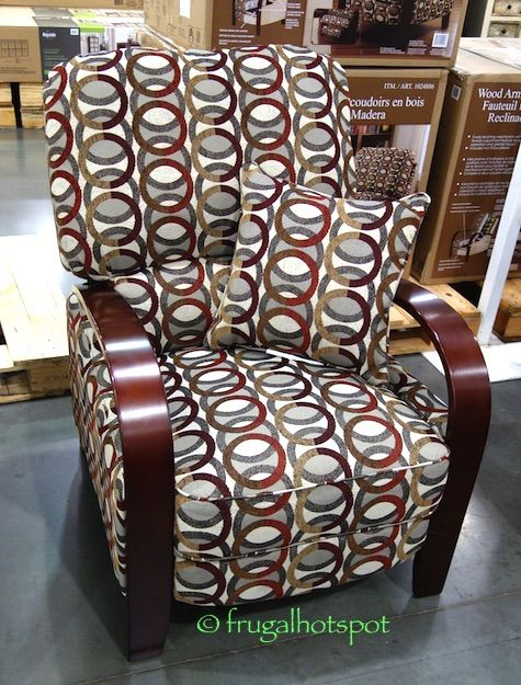 Synergy Home Wood Arm Recliner, Bent Wood Arm Recliner