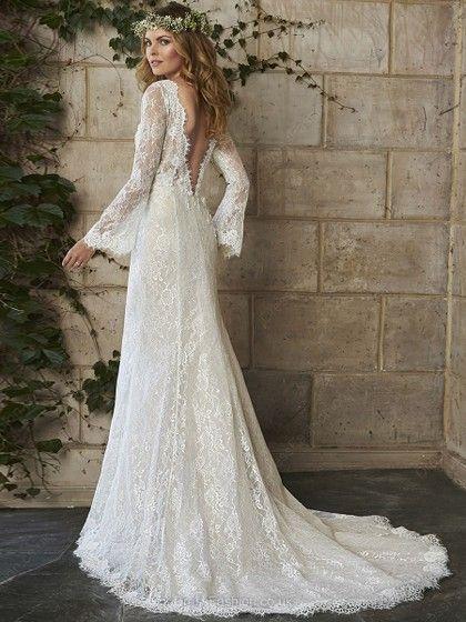 Lace Bohemian Wedding Dress Uk