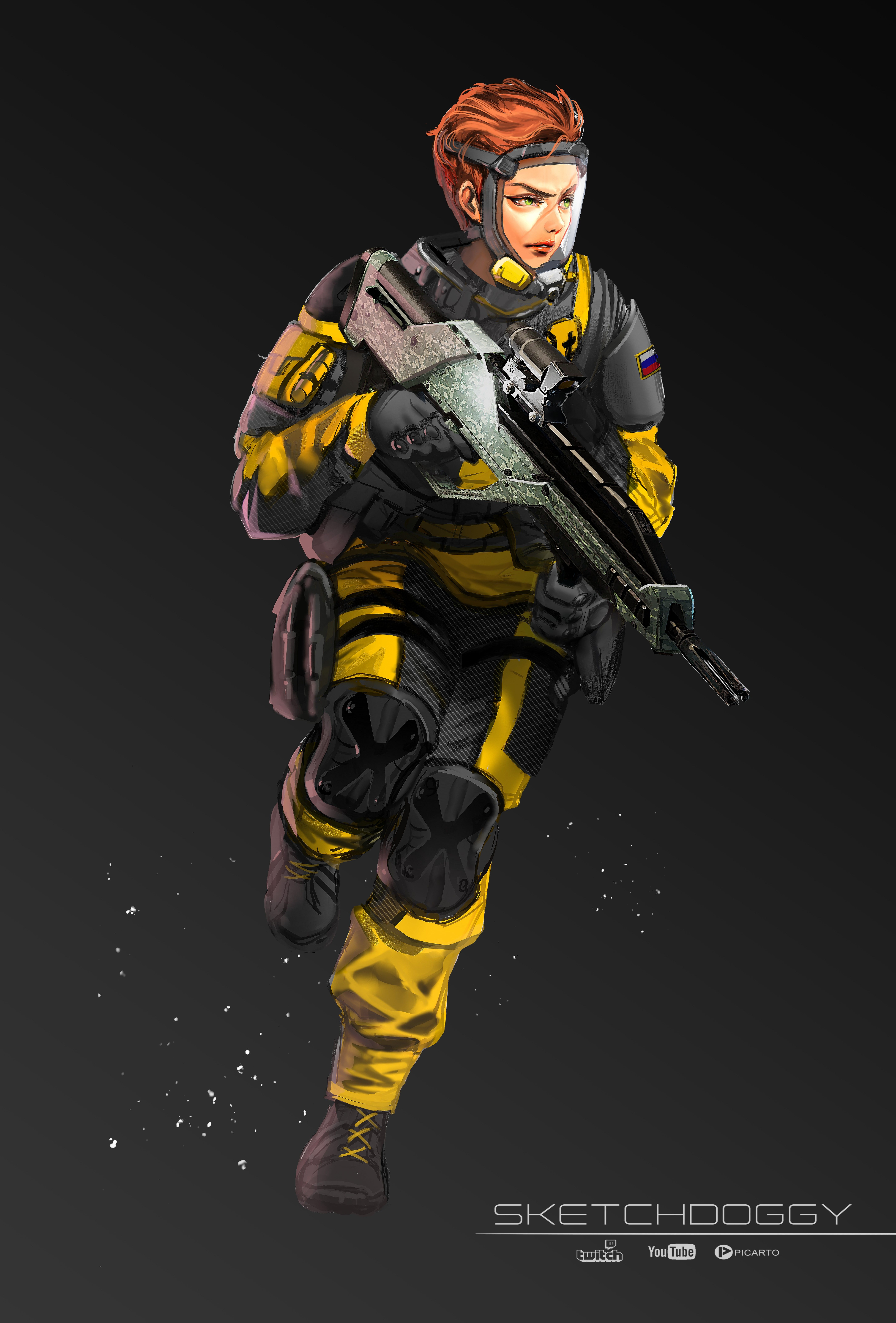 Finka by Sketchdoggy | Rainbow 6 Siege | Rainbow six siege
