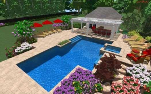 3d Landscape And Swimming Pool Design Swimming Pools Swimming
