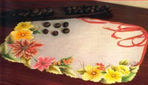 carpeta  flores amarillas y rosadas15 bs