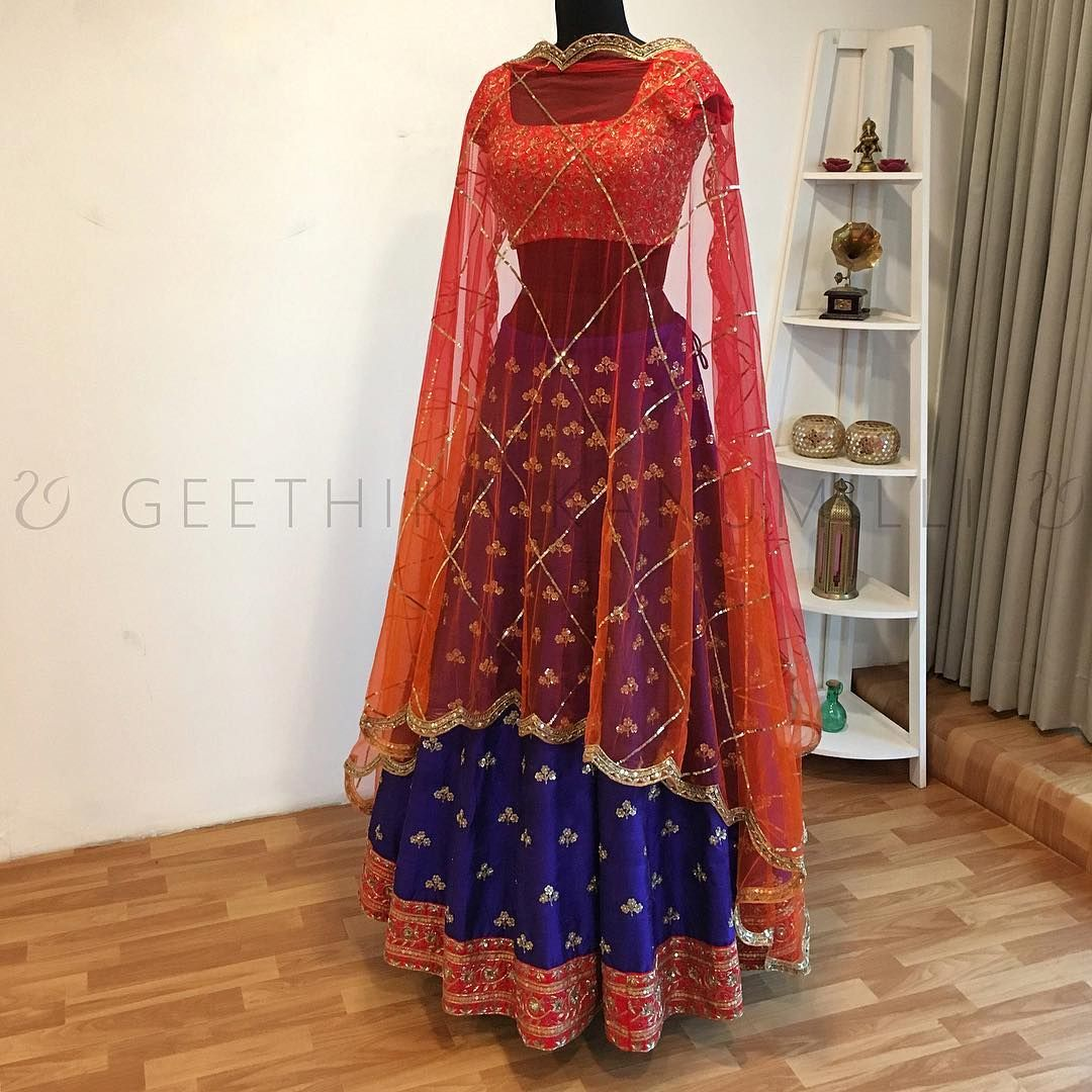 Designers also stunning royal blue color designer lehenga and pink rh pinterest