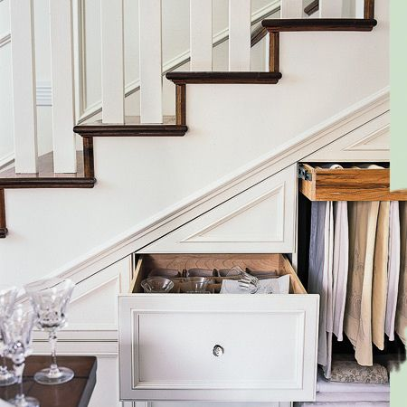 don't let space under your stairs go to waste.