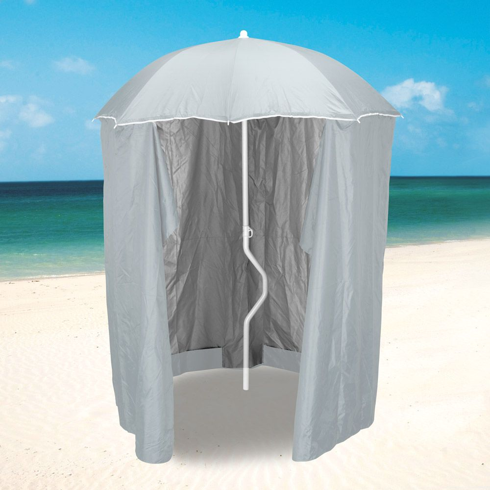 Ombrellone Da Mare Con Tenda.Ombrellone Mare Girafacile 200 Cm Protezione Uv Tenda Spiaggia