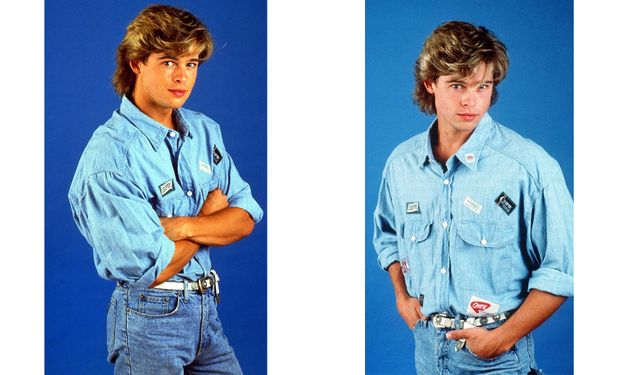 Denim | The 11 Best Brad Pitt '80s Glamour Shots