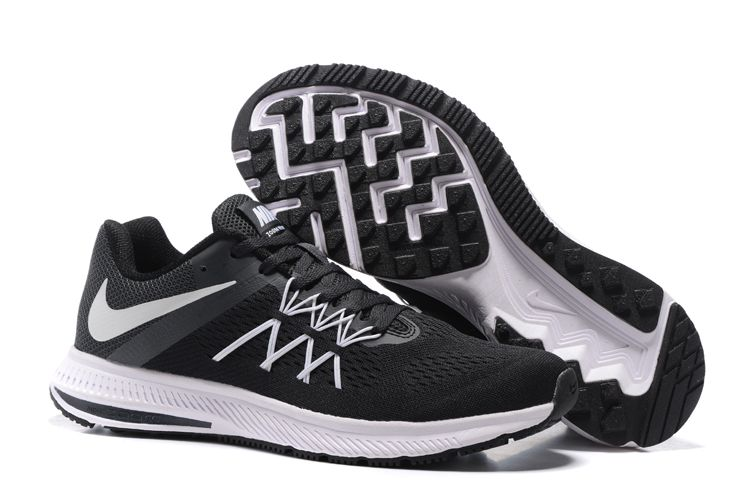 reputable site 36259 58420 ... switzerland nike air zoom winflo 3 womens running shoes black white  7cc48 b0a49