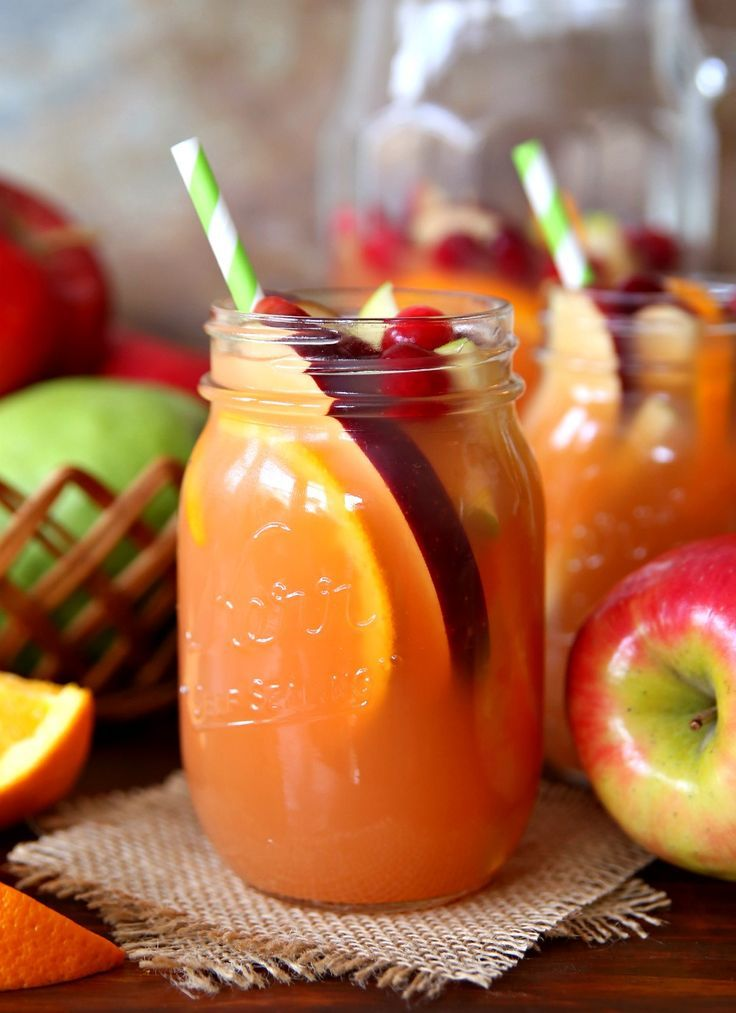 Autumn Harvest Rum Punch - The Best Fall Rum Punch