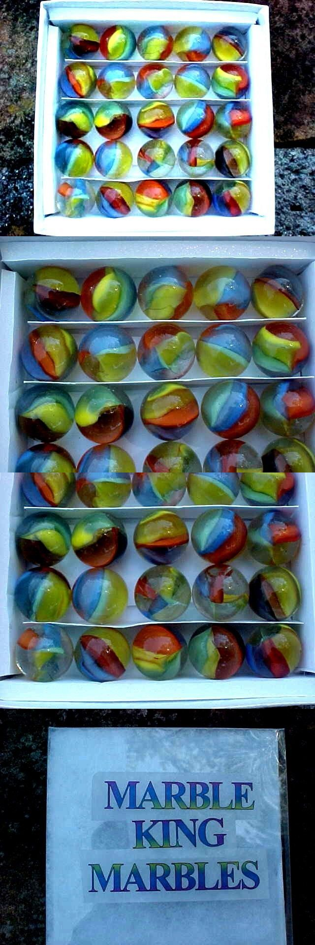 BOX SET OF 1999 MARBLE KING 4 COLOR ST MARYS MIMIC CATS EYE CAT EYE MARBLES