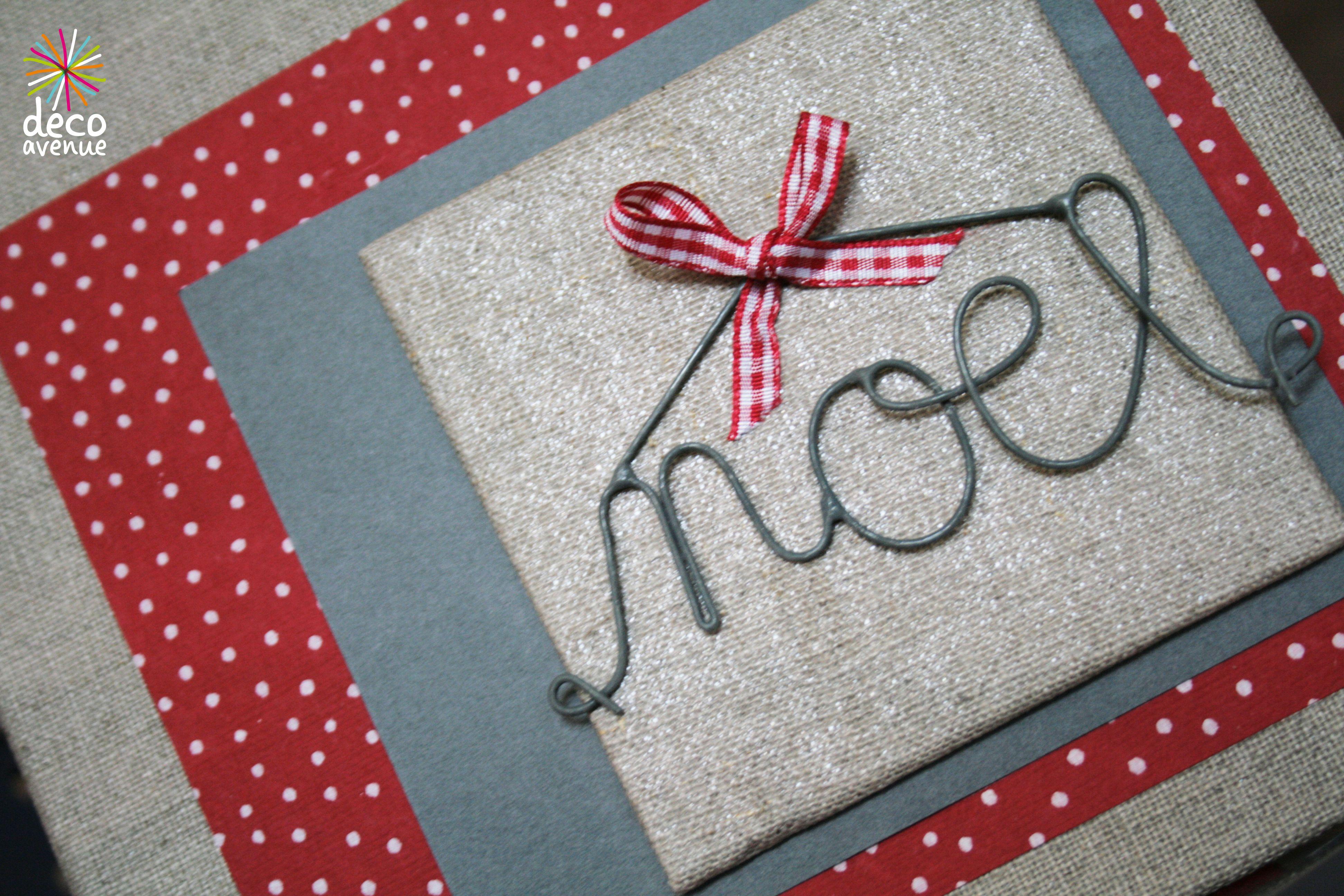 Petit tableau Home Déco pour Noël avec les jolis mots de Jardin d ...