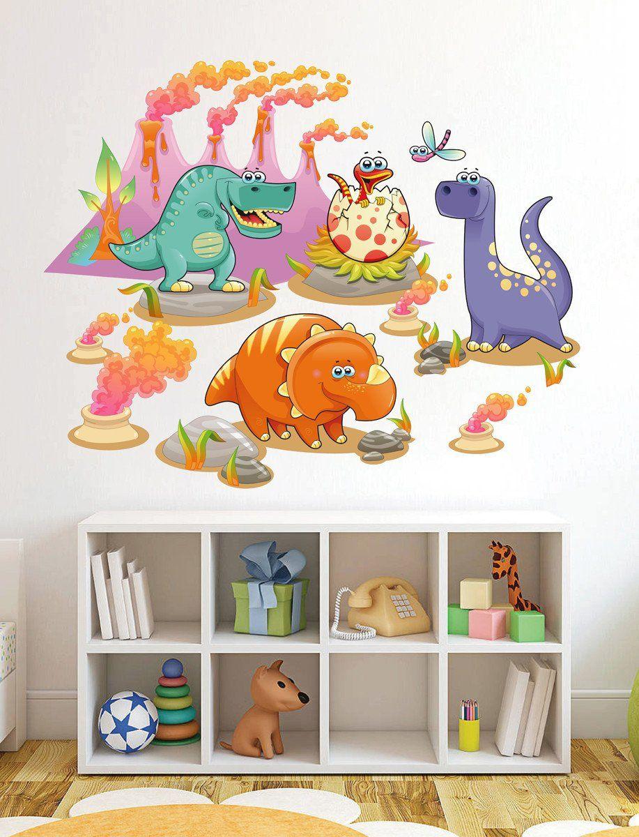 Dinosaur Animals Bedroom stickers Vinyl Graphics Baby ...
