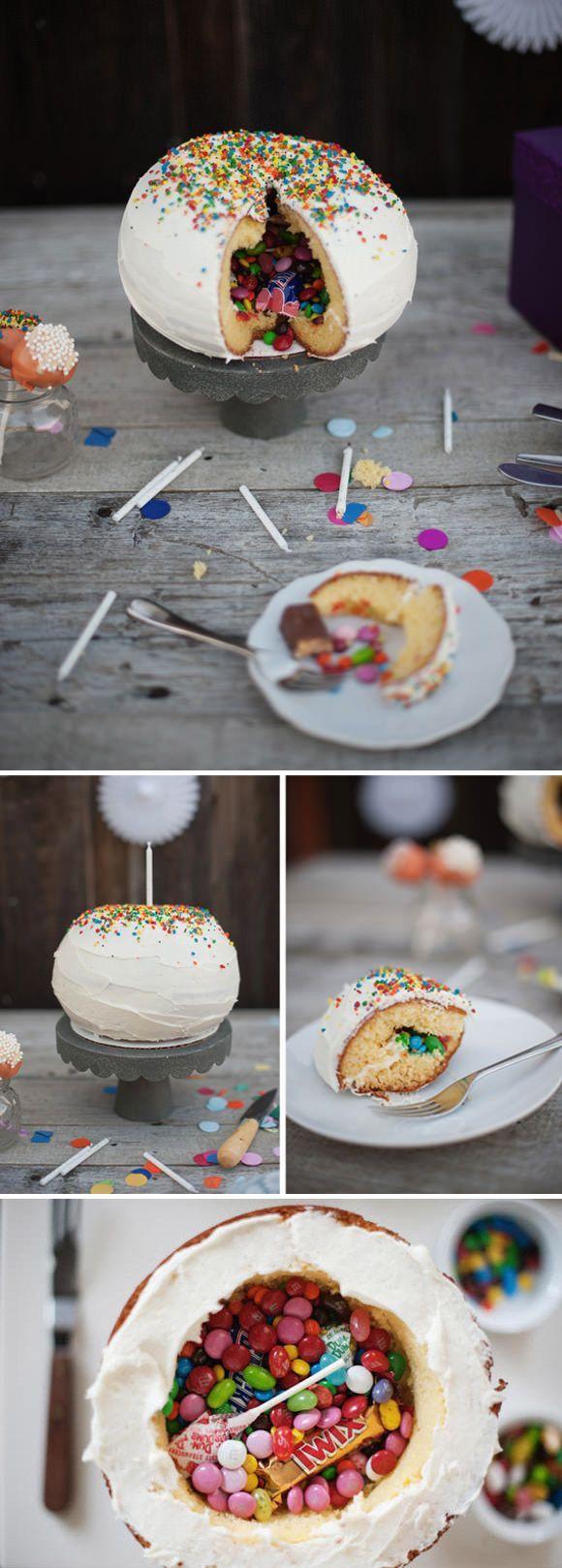 #DIY #Pinata #Cake http://www.kidsdinge.com https://www.facebook.com/pages/kidsdingecom-Origineel-speelgoed-hebbedingen-voor-hippe-kids/160122710686387?sk=wall http://instagram.com/kidsdinge