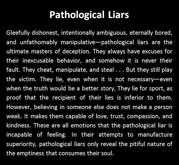 Traits of a pathological liar