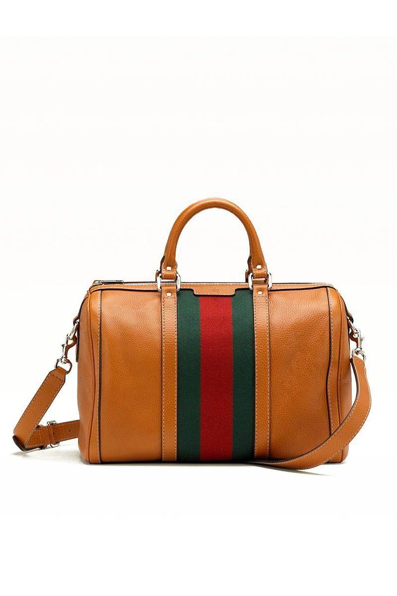 Gucci Vintage Boston Orange Leather Bag S 1599