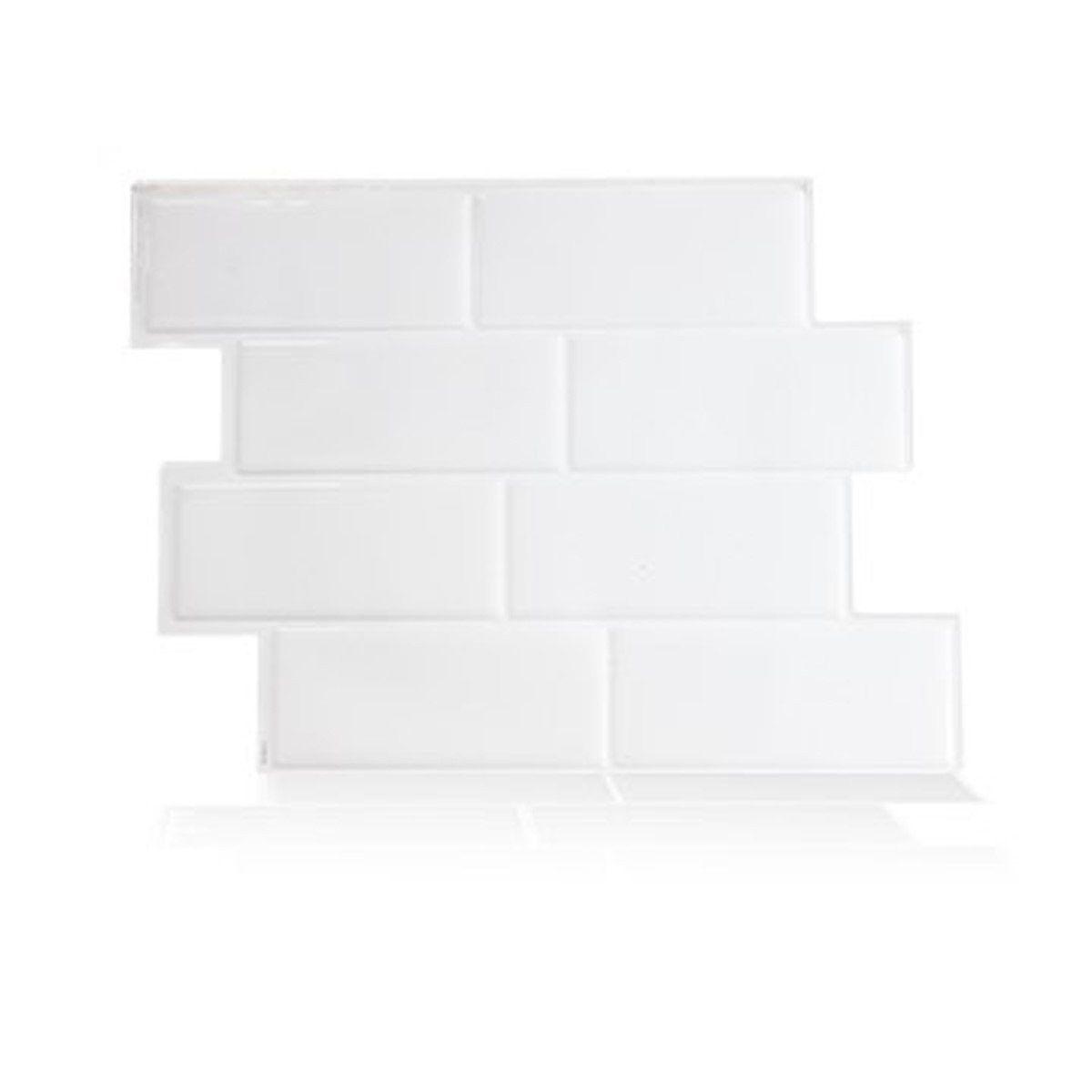 Carrelage Mural Adhesif 3d Smart Tiles Metro Blanc X6 Taille