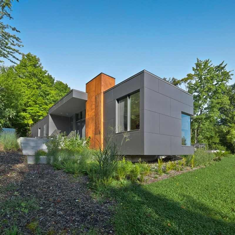 T House 8 Impressive Modern Country Retreat In Quebec Canada T