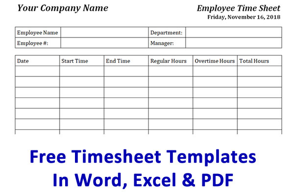Free Timesheet Template Time Card Template Ontheclock Regarding Weekly Time Card Template F Timesheet Template Card Templates Free Templates Printable Free