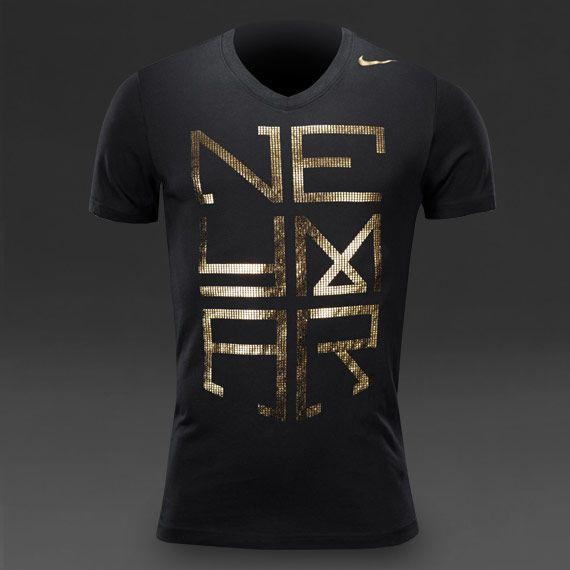 Nike Neymar Hero Logo T-Shirt - Mens Football Clothing - Black