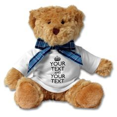 put your specific message on personalized teddy bear as gift for