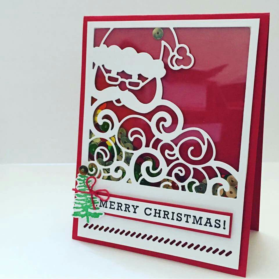 Stampin 39 up detailed santa thinlit others 39 stampin 39 up for Santa cards pinterest