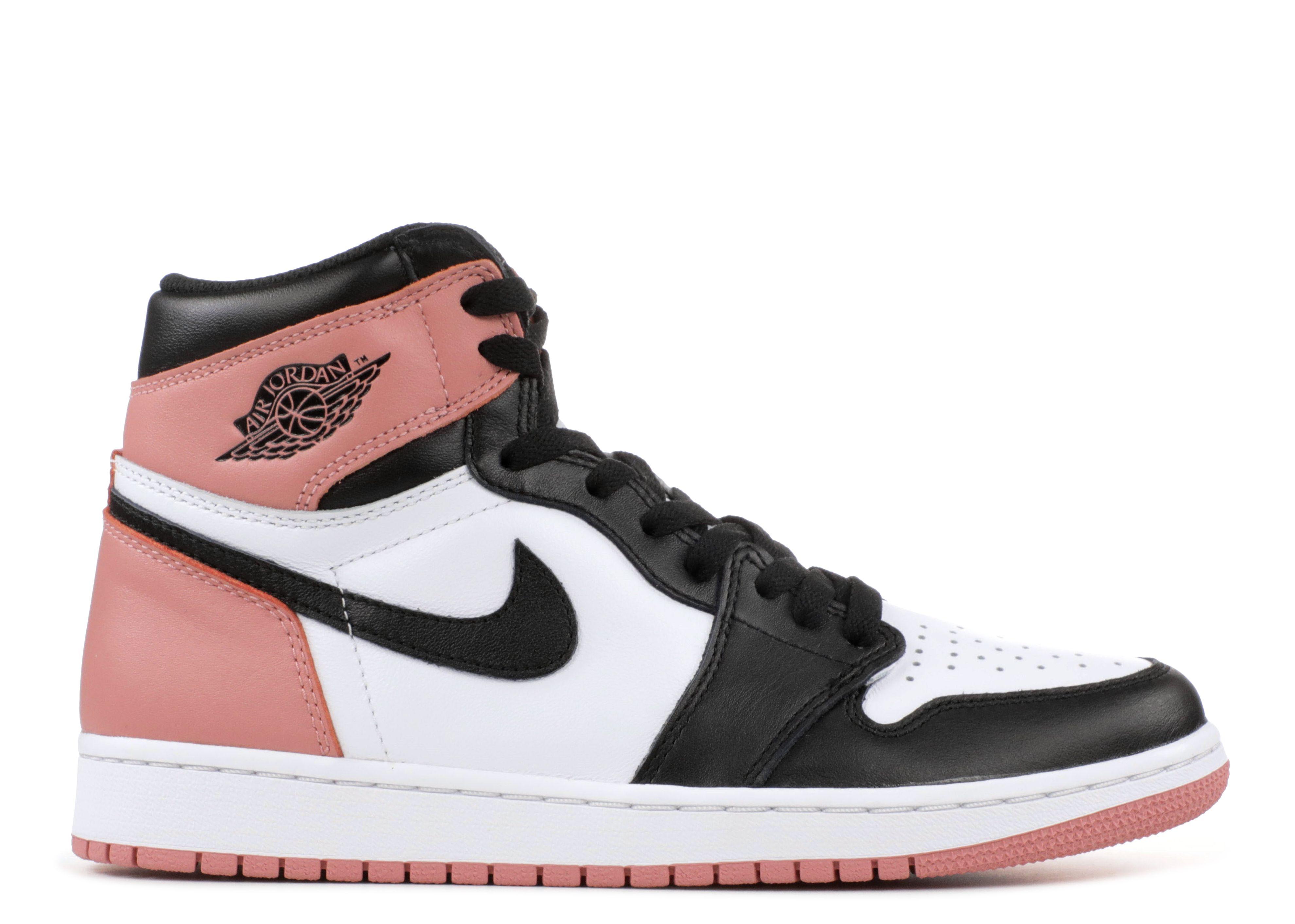 pink and black retro jordans