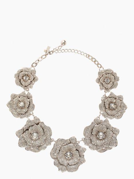 rose garden pave collar necklace - kate spade new york