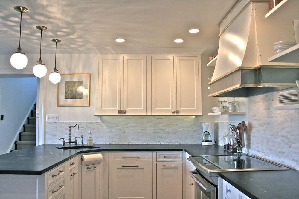 Custom white kitchen by bryan