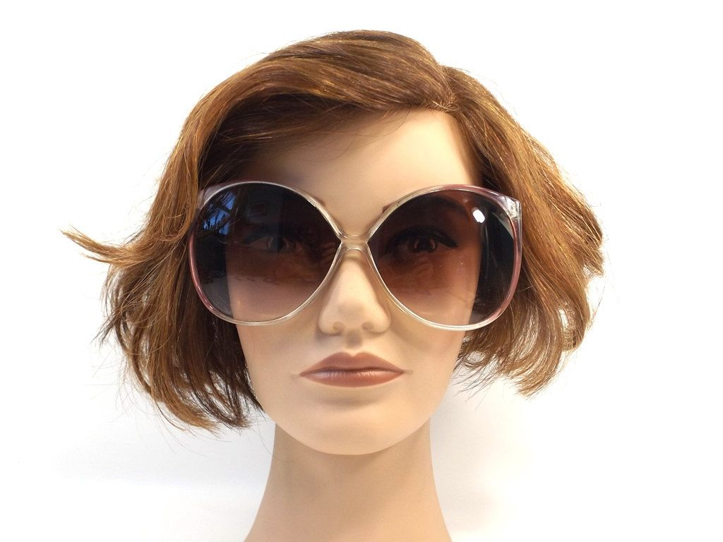 3f9d4c685d vintage 70s huge round sunglasses purple translucent crystal clear bugeye  lens plastic sun glasses eyewear fashion retro women opti ray 79 by ...