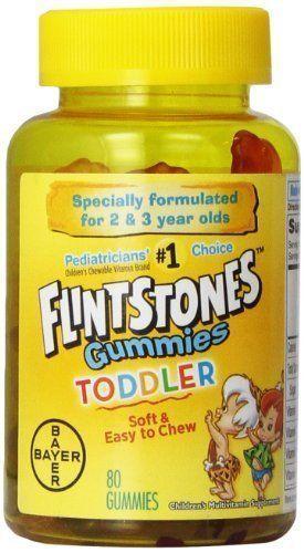 Flinstones Gummies Toddler Childrens Multivitamin Supplement 80 Chewable Vitamin #Flintstones