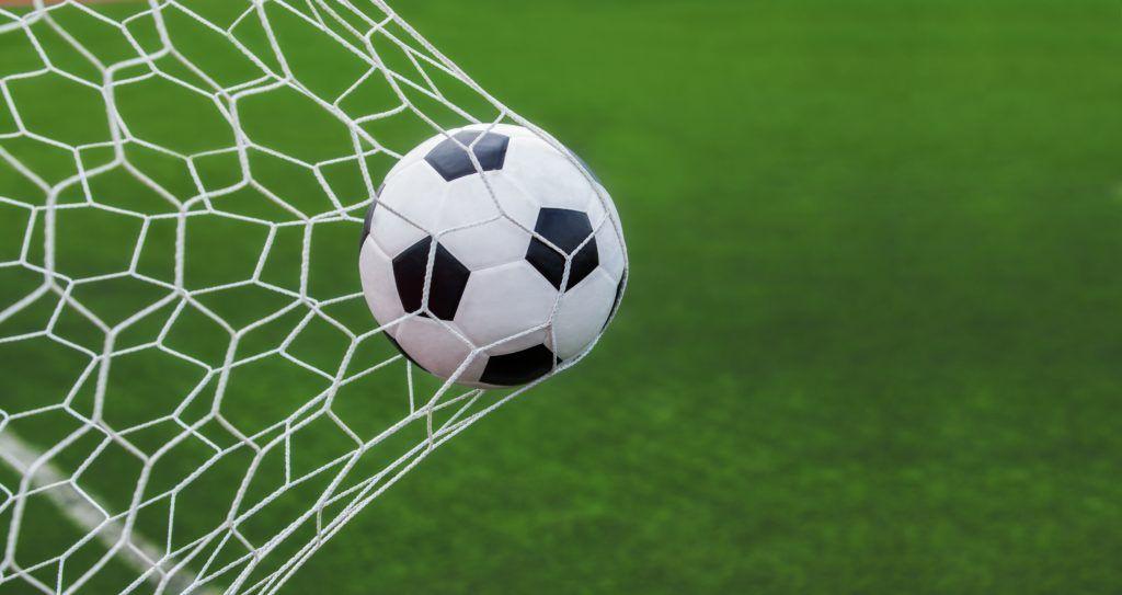 Football / Soccer ball in goal Флаг футбол, Футбольный