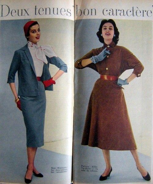 March 15, 1954 Elle - dresses