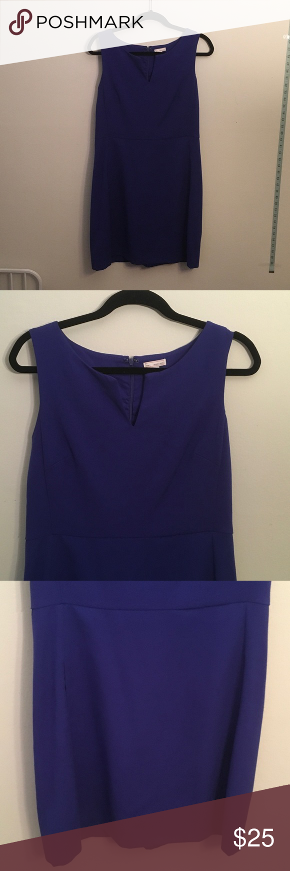 Blue dress Great condition, back zipper, has pockets GAP Dresses Midi