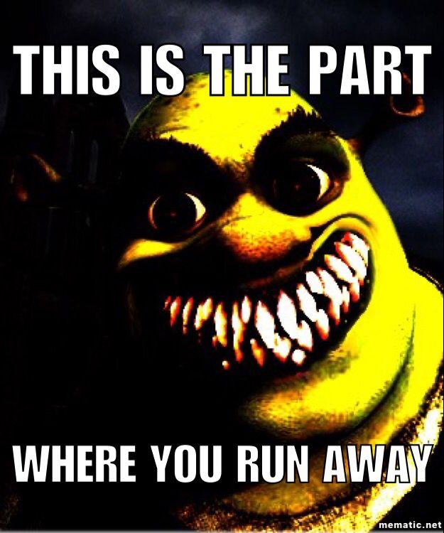 Check Yourself Before You Shrek Yourself Shrek Funny Horror Shrek Memes