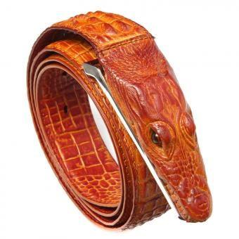 Cinturón correa cinturon casual hombre ocio moda durable auténtico cuero de cocodrilo