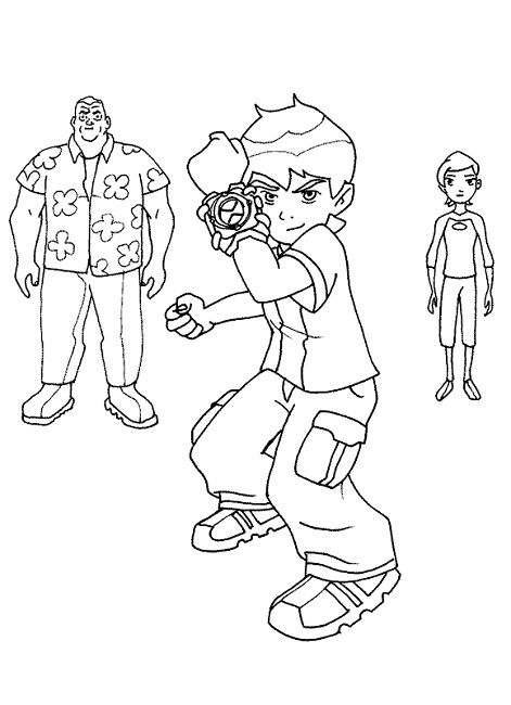 Ben Ten Coloring Pages Games