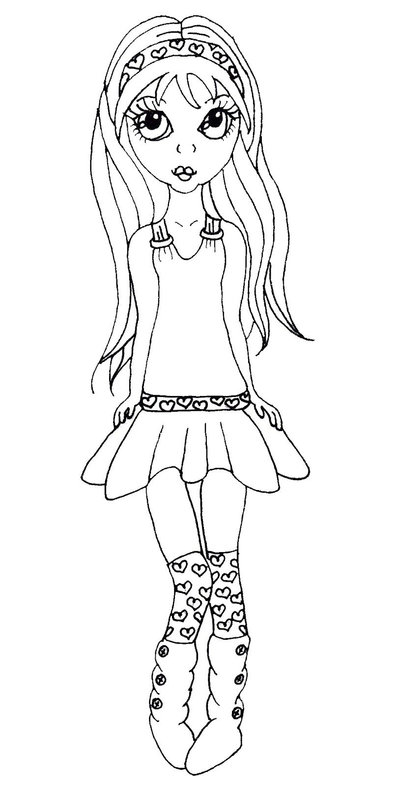 Coloriage De Fille A La Mode.Coloriage Fille Mode Coloriage 1970 Coloriage Ado Coloriage