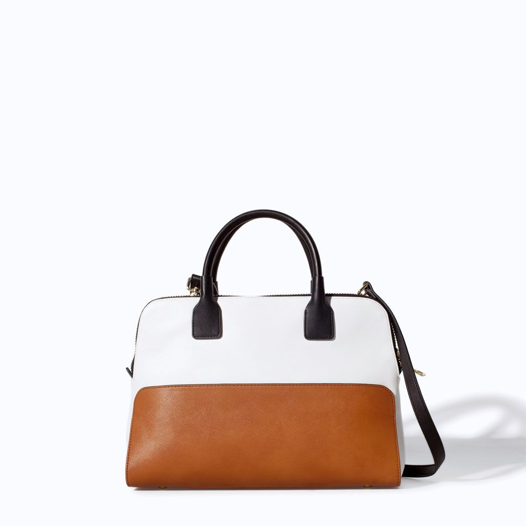 ZARA - NEW THIS WEEK - TWO-TONE BOWLING BAG