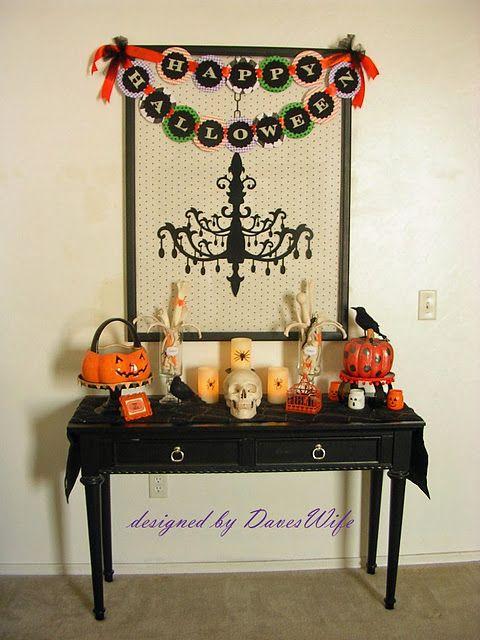Halloween decor table halloween decoration ideas Pinterest