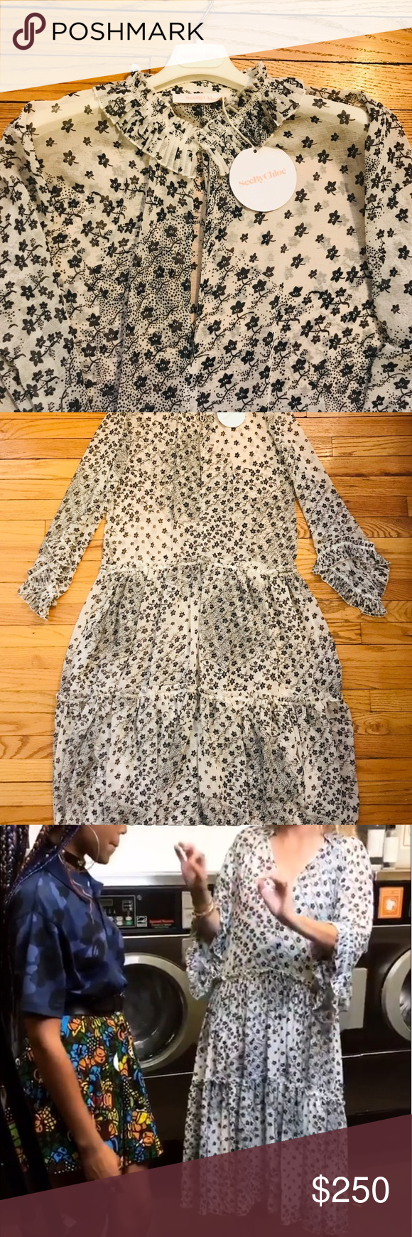 NWT See by Chloe RTW dress Brand new, never been worn See by Chloe long flowy dress See By Chloe Dresses #seebychloe