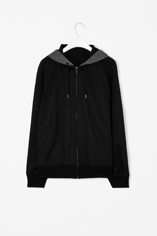 Jersey panel jacket