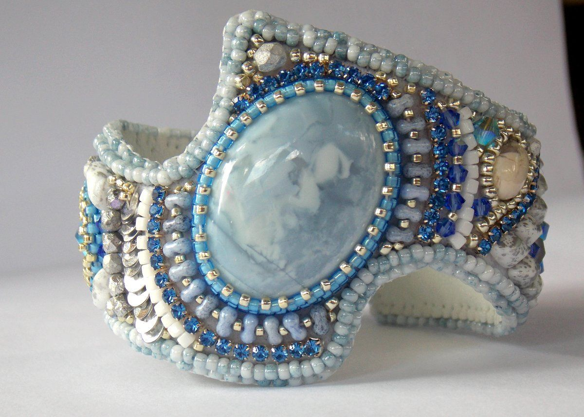 Beadwork Statement Jewelry Summer Wedding Bracelet