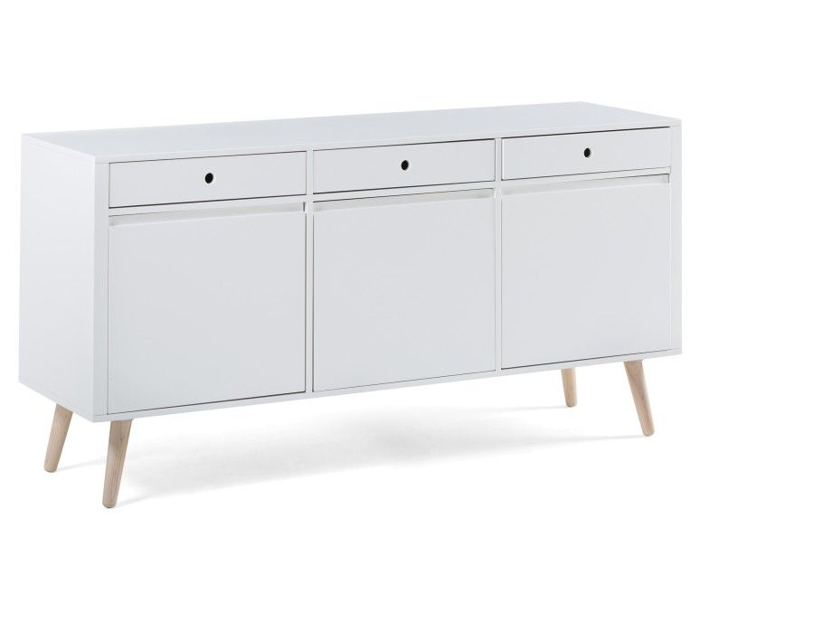 Emerson 3 Door Sideboard White On Sale For 399 Sideboard