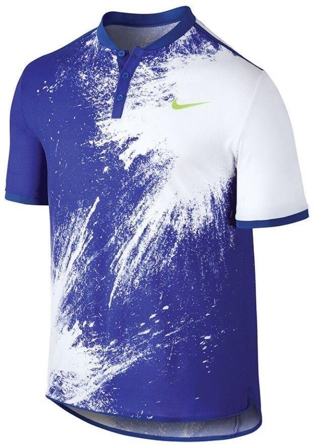 Nike Court Breathe Advantage Printed Polo Mens SZ L Roger Federer RF 836457  452  Nike  ShirtsTops 39e9bbbfd