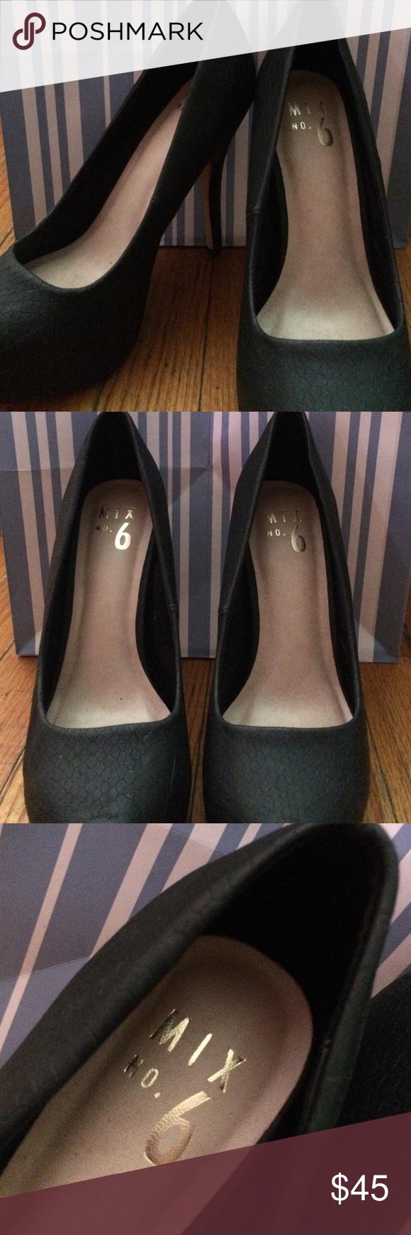 Selling this Mix No. 6 Black Heels in my Poshmark closet! My username is: richellerey. #shopmycloset #poshmark #fashion #shopping #style #forsale #Mix no.6 #Shoes